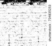grunge black white. image for... | Shutterstock . vector #734835253