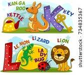 colored cartoon english... | Shutterstock .eps vector #734835367