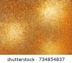bokeh golden shiny and... | Shutterstock . vector #734854837