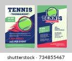 tennis tournament posters ... | Shutterstock .eps vector #734855467