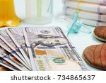 concept of expenses and outlay... | Shutterstock . vector #734865637