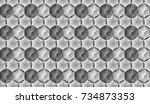 hexagonal parametric background....   Shutterstock .eps vector #734873353