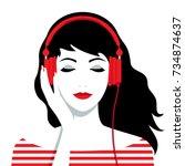 vector illustration of the... | Shutterstock .eps vector #734874637