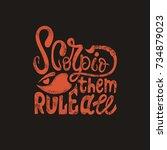 Scorpio. Typographical Design....