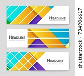 abstract vector layout... | Shutterstock .eps vector #734906617