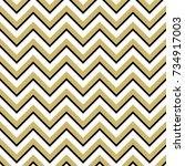 black white and gold chevron... | Shutterstock .eps vector #734917003