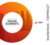 design element for corporate... | Shutterstock .eps vector #734940127