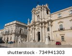 syracuse  italy   august 31 ...   Shutterstock . vector #734941303