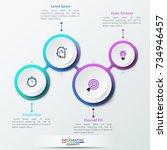 four lettered white round... | Shutterstock .eps vector #734946457