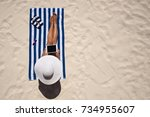 summer holiday fashion concept  ... | Shutterstock . vector #734955607