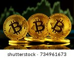 physical version of bitcoin ... | Shutterstock . vector #734961673