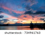 Small photo of Sunset in sea (Adriatic sea)