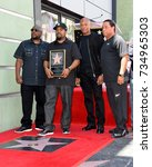 Small photo of LOS ANGELES, CA - June 12, 2017: MC Ren, Ice Cube, Dr. Dre & DJ Yella at the Hollywood Walk of Fame star ceremony honoring actor/musician Ice Cube
