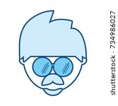 man with glasses icon | Shutterstock .eps vector #734986027