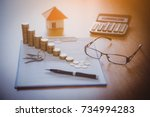 mortgage contract for sale of...   Shutterstock . vector #734994283