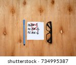 Small photo of A note with plan a ,plan b ,plan c text and a pen and a a pair of glasses on rustic wooden table