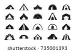 tent icon set. simple set of...