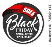 label black friday with red... | Shutterstock .eps vector #735004663