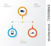 transport icons set. collection ...   Shutterstock .eps vector #735008863