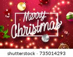 merry christmas and happy new... | Shutterstock .eps vector #735014293