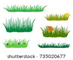 fragments of spring  summer and ... | Shutterstock .eps vector #735020677