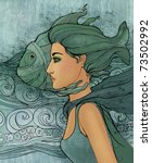 Illustration Of Pisces...