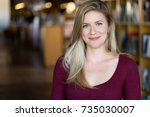 casual confident portrait... | Shutterstock . vector #735030007