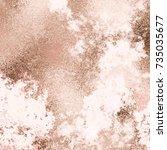 vector copper background.... | Shutterstock .eps vector #735035677