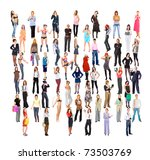 concept a lot of people big... | Shutterstock . vector #73503769