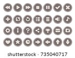 set of buttons for games ... | Shutterstock .eps vector #735040717