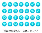 set of buttons for games ... | Shutterstock .eps vector #735041077