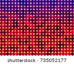 color dot pattern abstract... | Shutterstock . vector #735052177