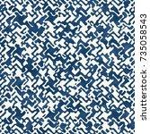 abstract distorted mottled... | Shutterstock .eps vector #735058543