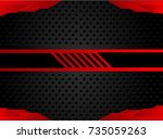 tech black background with... | Shutterstock .eps vector #735059263