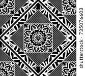 modern art deco seamless... | Shutterstock .eps vector #735076603