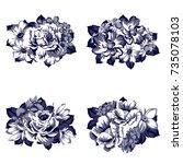 flower set | Shutterstock .eps vector #735078103