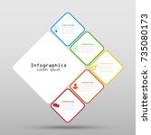 infographic design vector... | Shutterstock .eps vector #735080173