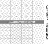 vector abstract geometric... | Shutterstock .eps vector #735083293