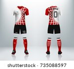 3d realistic of front and back... | Shutterstock .eps vector #735088597
