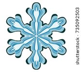 a symbolic snowflake. element... | Shutterstock .eps vector #735092503