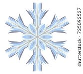 a symbolic snowflake. element... | Shutterstock .eps vector #735092527