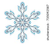 a symbolic snowflake. element... | Shutterstock .eps vector #735092587