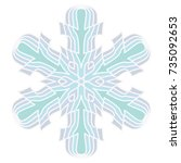 a symbolic snowflake. element... | Shutterstock .eps vector #735092653