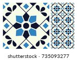 vintage patterns antique... | Shutterstock .eps vector #735093277