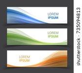 set of banner templates. ...   Shutterstock .eps vector #735094813