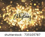 christmas background with... | Shutterstock .eps vector #735105787