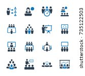 business conference icons  ... | Shutterstock .eps vector #735122503