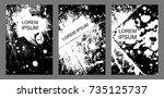 set of universal vector cards.... | Shutterstock .eps vector #735125737