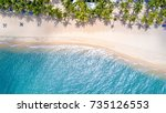 sea samui beach is beautiful. | Shutterstock . vector #735126553