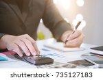 finance concept finance control ... | Shutterstock . vector #735127183